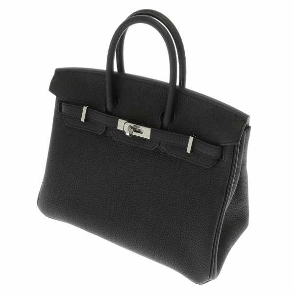 バーキン25 ブラック×シルバー金具 トゴ 黒 ハンドバッグ