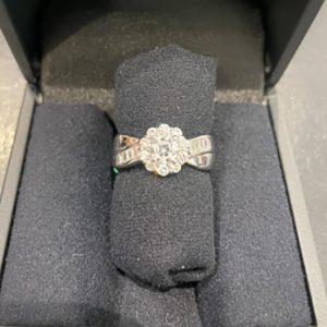 ダイヤモンドリング 約15号 Pt900 0.531ct/0.67ct