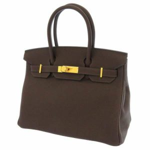 エルメス バーキン30 ショコラ/ゴールド金具 トゴ ハンドバッグ